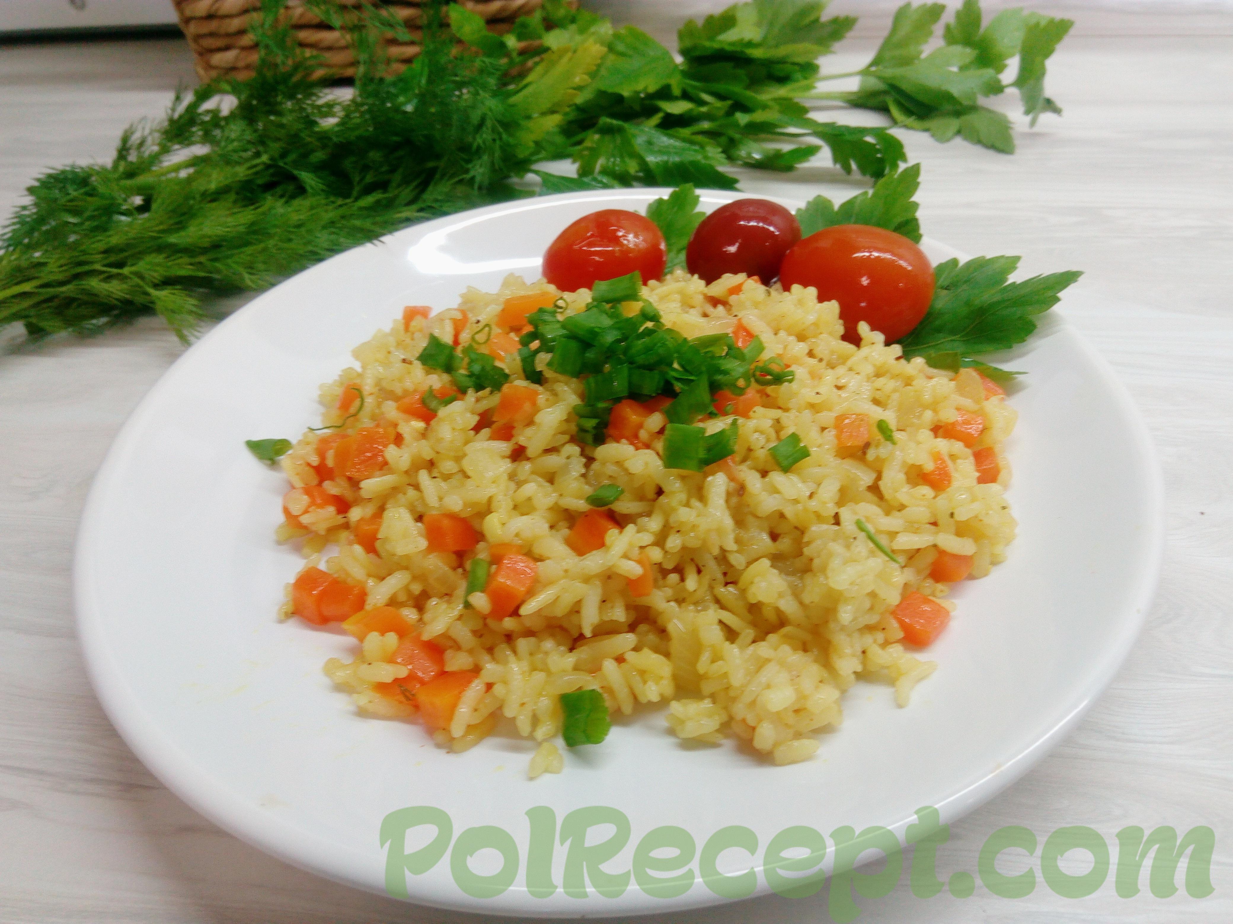 Рассыпчатый рис с овощами в мультиварке лучший рецепт