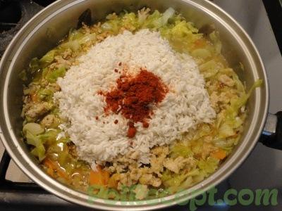 рис и другие ингредиенты