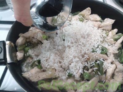 лук грудка фасоль и рис