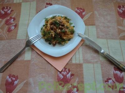 готовое и украшенное блюдо
