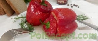 готовые перцы на столе