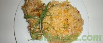 готовое блюдо на тарелке
