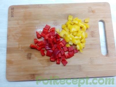 нарезанный болгарский перец