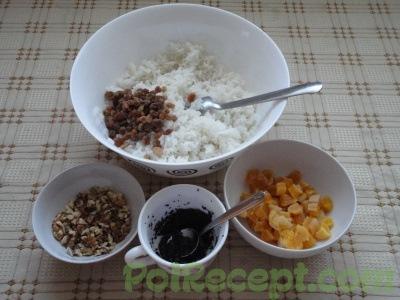 рис мак и орехи