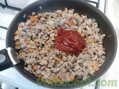 лук чеснок морковь мясо и паста