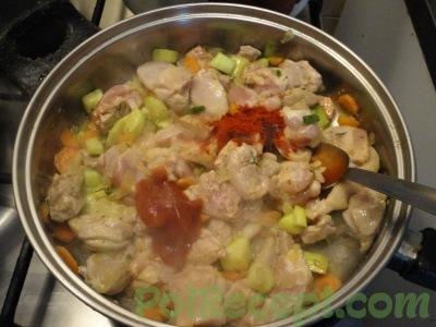 овощи и мясо со специями