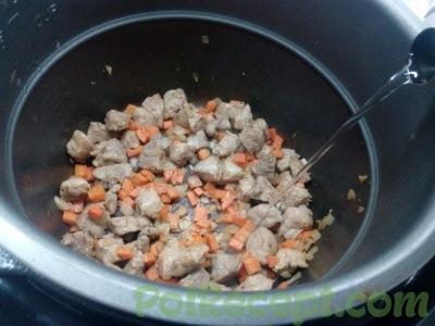 овощи и мясо в мультиварке