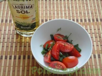 помидоры и масло