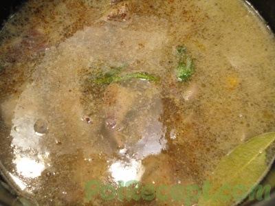 печень и гречка в воде