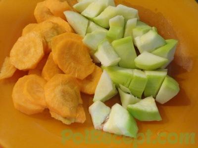 морковь и кабачок
