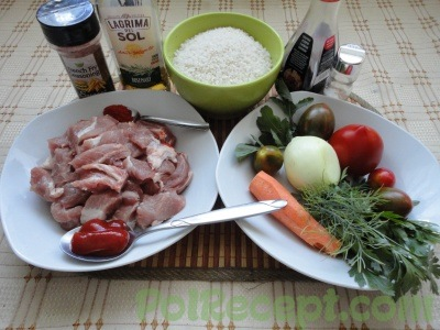 ингредиенты для блюда из риса