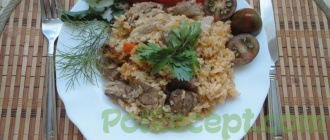 готовое блюдо из риса
