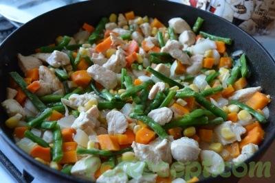 блюдо на сковороде