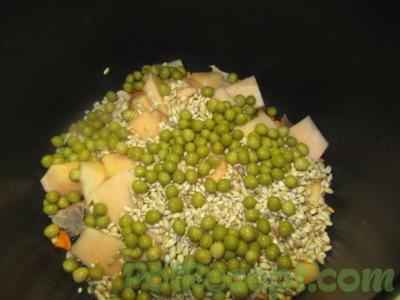 овощи мясо тыква перловка горошек