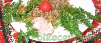 готовое блюдо на столе