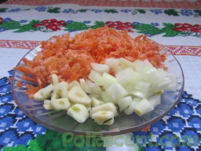 лук морковь чеснок