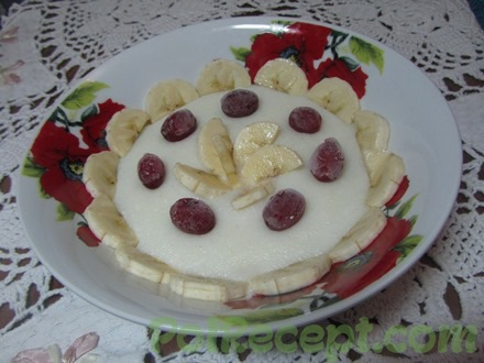 Манная каша с бананом