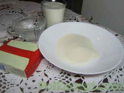 манная крупа молоко и масло